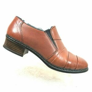 Rieker leather pleated top Loafer